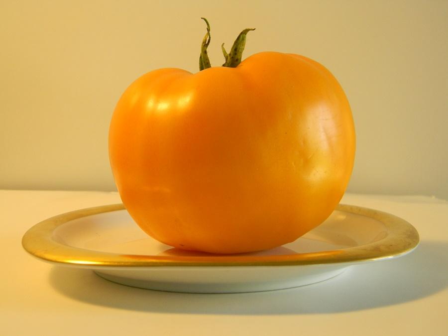 Yellow tomato from my garden